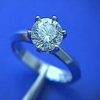 1.50ct G-SI1 Round Diamond Engagement Ring 18kt White Gold EGL certified JEWELFORMEBLUE