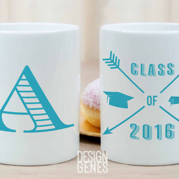 Personalized graduation monogram mug for college/high school graduation gift