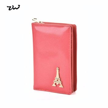 ZIWI 2017 new fashion Women  wallet  long Purse  standard pu leathers  solid color with note compartment zipper closure  VKP1444