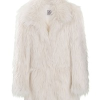 SW3 White Faux Fur Coat