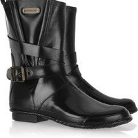 Burberry | Buckle-detailed Wellington boots  | NET-A-PORTER.COM