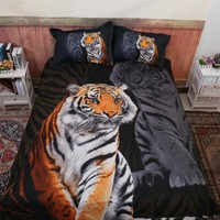 Cool Animal 3D Tiger Comforter Bedding Sets King Twin Queen Size Family Bed Cover Linen Luxury Duvet Cover Set Bed Sheets BedspreadAT_93_12