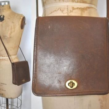 Vintage Coach Brown Bag Purse Leather / Small