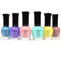 Kleancolor Nail Polish PASTEL SET! Lot of 6 Lacquer + Free Earring Gift