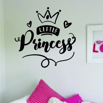 Little Princess Quote Wall Decal Sticker Home Room Decor Vinyl Art Bedroom Cute Daughter Baby Teen Crown Nursery Girls Kids