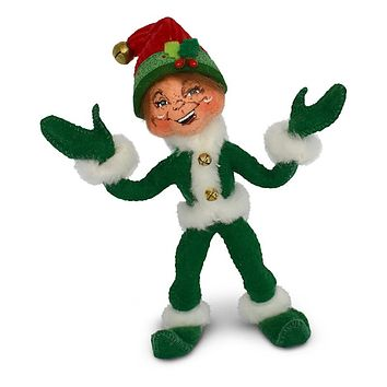 Annalee Dolls 5in 2018 Christmas Jinglebell Elf Green Plush New with Tags