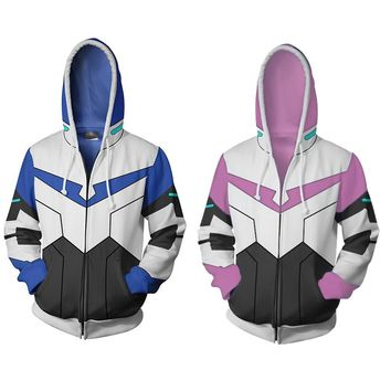 Cool Japan Anime Sweatshirt Voltron Rance Cosplay Halloween Carnival Costume COAT Autumn 3D Printed Zipper Hooded Sweater Male FamaleAT_93_12