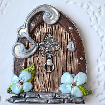 Fairy Door - Fairy Garden - Fairy Garden Kit - Clay Door - Pixie Door - Tooth Fairy Door - Small Fairy Door - Fairy Portal - OOAK Fairy Door