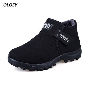 Winter Fur Snow Autumn Non-Slip Mens Rubber Rain Sole Ankle Boots Waterproof Footwear Military Shoes Botas Masculina