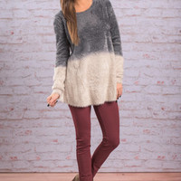 Warm Weekend Sweater, Charcoal