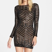 Women's Dress the Population 'Lola' Sequin Body-Con Dress