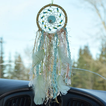 Dream catcher, Small Dream catcher, Car Accessory for women, Rear View Mirror, Car Charm, Car Dream catcher, Bohemian Decor