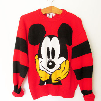 Vintage 1980s Mickey Mouse Sweater