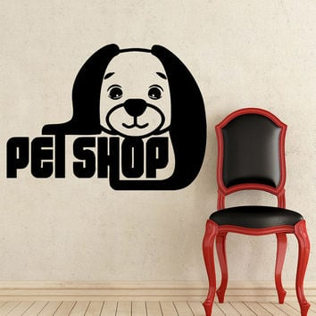 Grooming Salon Wall Decal Pet Shop Vinyl Sticker Decals Dog Comb Scissors Grooming Salon Decor Interior Art Murals Window Decal AN727
