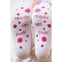 Ready. Set. Push! Labor Socks {Pink}