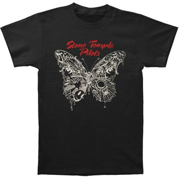 Stone Temple Pilots Men's  Webbed Butterfly Slim Fit T-shirt Black
