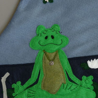 "Yoga Frog Christmas Stocking ""Om for Christmas"""