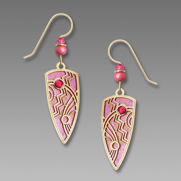 Adajio Earrings - Rose and Peach Earrings with Gold-Plated Overlay