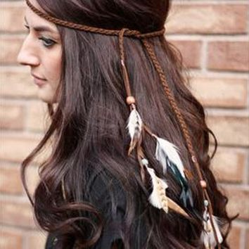 Native American Feather Headband (10 designs)