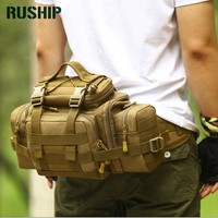 Super BIG Brand Waist Pack Pockets Waterproof Molle Military Tactical Gear Waist Pack Leisure Bag Camouflage Chest Pack Y111