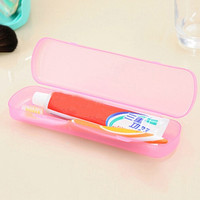 Travel Portable Wash Toothbrush Box Color Random Candy Color Breathable Bacteria Large Toothbrush Box Storage Box = 1958557444