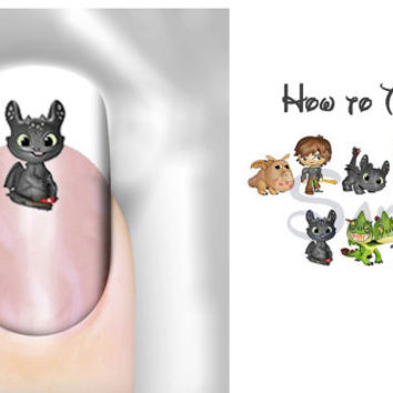 How to Train Your Dragon 30 images Nail Art Decals Nail Decal Transfer Image