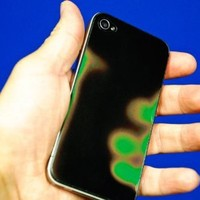 RF LaserWorks Colour Changing / Heat Sensitive iPhone 4 Backing with Apple cut-out