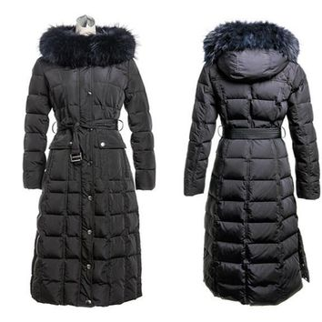 Warm Coat Women winter dress AZZIMIA  2015 fation style with big discount High Quality Female Warm  overcoat with fox fur
