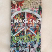 Iphone 5s case iphone 5s case Imagine phone case Coexist i phone 5 case Peace iphone 5 cover Cool Iphone 5s case I phone 5 accessories