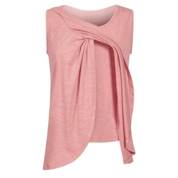 Sleeveless Multilayered Breastfeeding Top