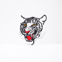 White Tiger Iron on Patch