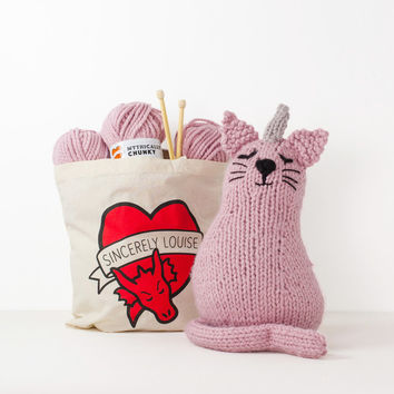 Uni-Cat Knitting Kit | FIREBOX