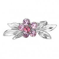 Pugster Rose Pink Swarovski Crystal Diamond Accent Bouquet Flower Vintage Brooches & Pins:Amazon:Jewelry
