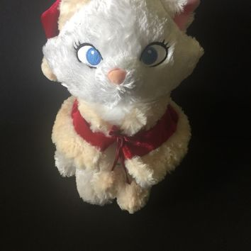 Authentic Disney Exclusive Plush Aristocats Marie Traditions Christmas Santa Hat with Free Shipping
