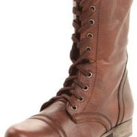 Steve Madden Women's Troopa Boot, Brown Leather, 8 M US