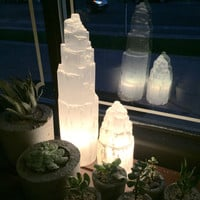 Selenite Lamp with Cord