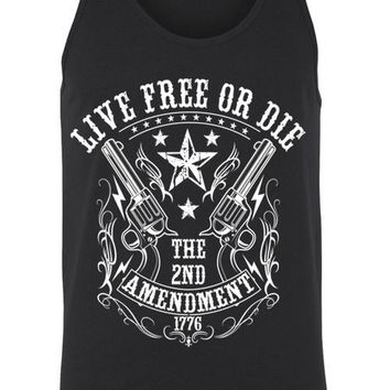 Tank Top Shirt Live Free or Die 2nd