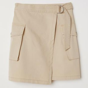 Short Cargo Skirt - Beige - Ladies | H&M US