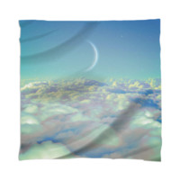 Dream Above The Clouds (Crescent Moon) Mini Wall Tapestry / Scarf created by soaringanchordesigns | Print All Over Me