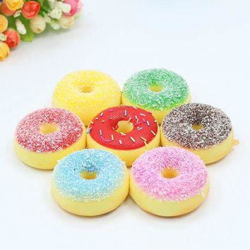 High Artificial Bread Doughnuts Simulation Model Ornaments Fake Cake Bakery Room Photography props Christmas Window Decoration