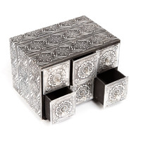 Silver Box With Drawers