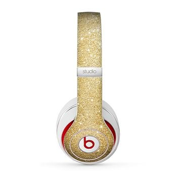 The Gold Glitter Ultra Metallic Skin for the Beats by Dre Studio (2013+ Version) Headphones