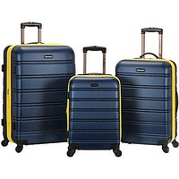 3 Piece Carry-On ABS Travel Wheeled Rolling Hard Side Shell Spinner Suitcase Luggage Set Baggage Set