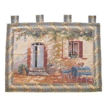 "Shadow of Life Elegant Woven Fabric Baroque Tapestry Wall Hanging - 36"" x 50"""