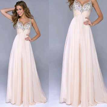 Summer Prom Ball Sequins Cocktail Party Clubwear Maxi Formal Dress