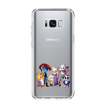 UNDERTALE CHARACTER CUTE Samsung Galaxy S4 S5 S6 S7 Edge Clear Case