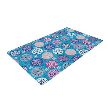"KESS InHouse Julia Grifol ""Floral Winter"" Woven Area Rug, 4' x 6'"