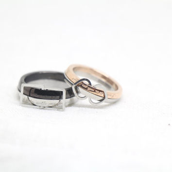 2pcs-Free Engraving, Wedding Bands Couple Rings, Lovers rings, his and hers promise ring sets , wedding rings, valentine's gift