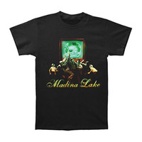 Madina Lake Men's  Slim Fit T-shirt Black Rockabilia