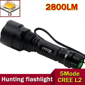 High Quality Waterproof Tactical 5-Mode LED Flashlight